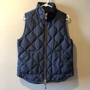 J. Crew Navy Blue Quilted Puffer Vest